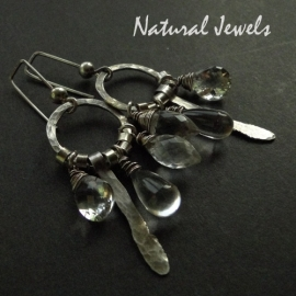 Earrings Robust Rockcrystal