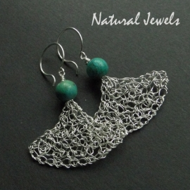 Earrings Organic Turquoise