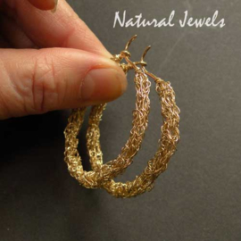 Golden Organic Hoops - large
