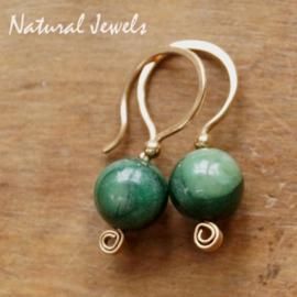 Afrikaanse Jade oorbellen