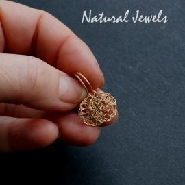 Oorbellen kleine gouden cirkel met klaphaak