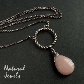 Necklace Pink Opal
