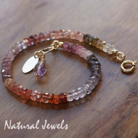 Spinel armband goud