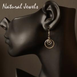 Zilveren oorbellen Spirals