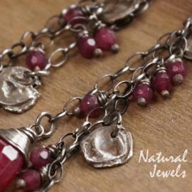 Zilveren oorbellen Robust Ruby
