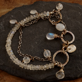 Zilveren Maansteen Armband
