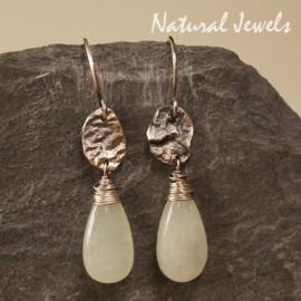 Zilveren oorbellen Jade