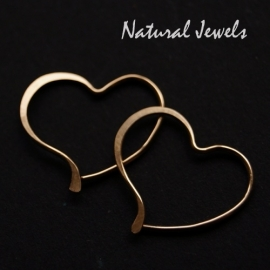 Oorbellen small golden Hearts