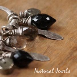 Zilveren oorbellen Robust Black