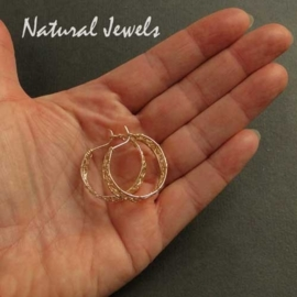 Earrings Web of Gold - small