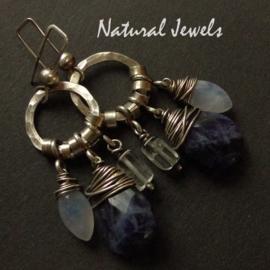 Earrings Sodalite