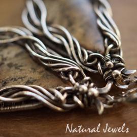 Dendriet Opaal handgemaakte zilveren oorbellen