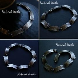 Authentieke armband met gehamerde schakels