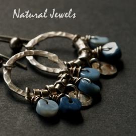 Oorbellen Blauwe Opaal