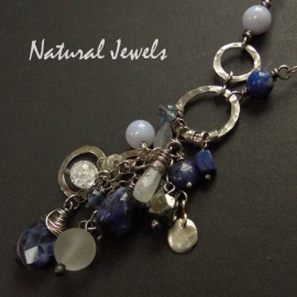 Long Necklace Sodalite