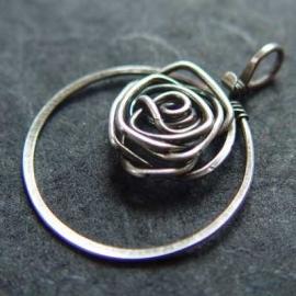 Pendant Silver Rose