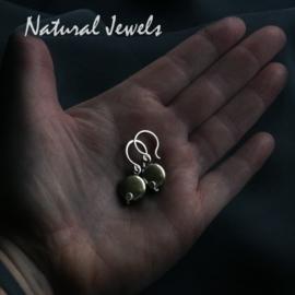Earrings Pyrite discs