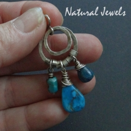 Smal robust blue pendant
