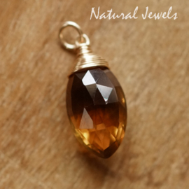 Whiskey Quartz hangertje of halsketting
