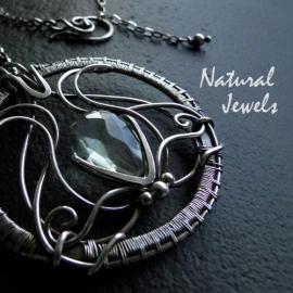Necklace Green Amethyst