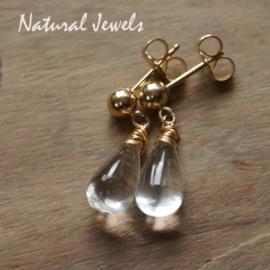 Gouden Bergkristal oorstekers