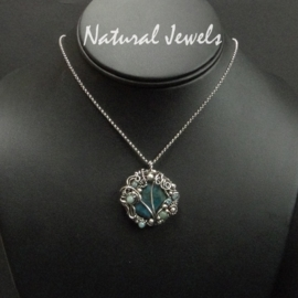 Necklace Captured Chrysocolla