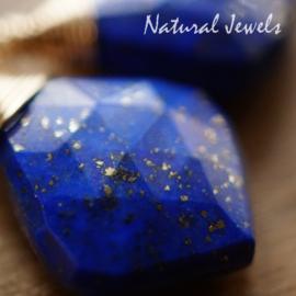Goldfilled oorbellen Lapis Lazuli