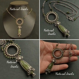 Necklace Peridot and Jade