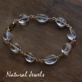Gouden Bergkristal armband
