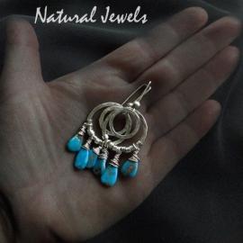 Oorbellen Turquoise Bangles