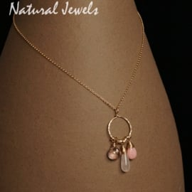 Goldfilled pendant Pink