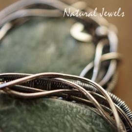 Serafiniet handgemaakte zilveren oorbellen