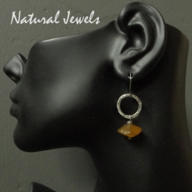 Earrings Yellow Agath