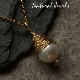 Pearlcocoon goldfilled pendant