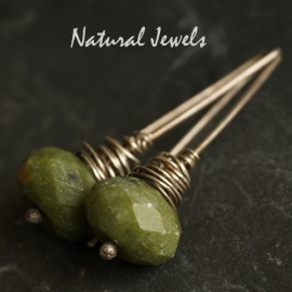 Silver Jade cocoon earrings