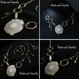 Primitive Silver Necklace Solar-Quartz