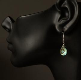 Sterling zilveren oorbellen met Abalone