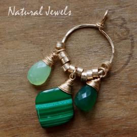Groene edelsteen hanger