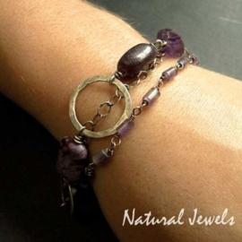 Bracelet Earthy Amethyst