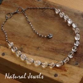 Zilveren Halsketting met Bergkristal
