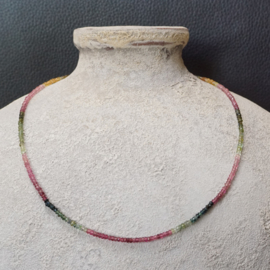 Watermeloentoermalijn halsketting