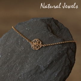 Gouden armbandje of enkelbandje Organic Circle