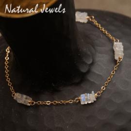 Gouden Armband Maansteen Heishi