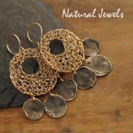 Gereserveerd - Goldfilled oorbellen Discs