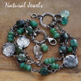 Armband edelsteen Smaragd en Chrysopraas