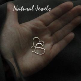 Oorbellen small silver Hearts