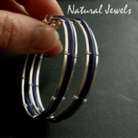 Silver Hoops Framed Leather - giant
