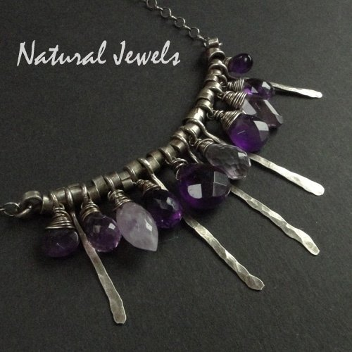 Necklace All Amethyst
