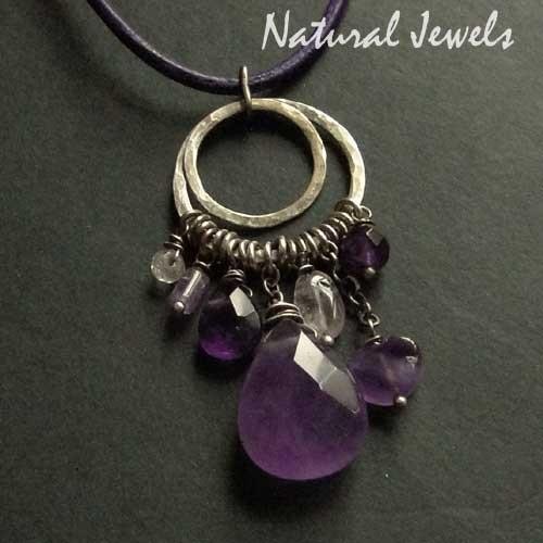 Necklace Earthy Purple