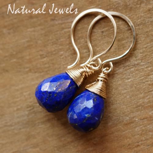 Lapis Lazuli oorbellen goud